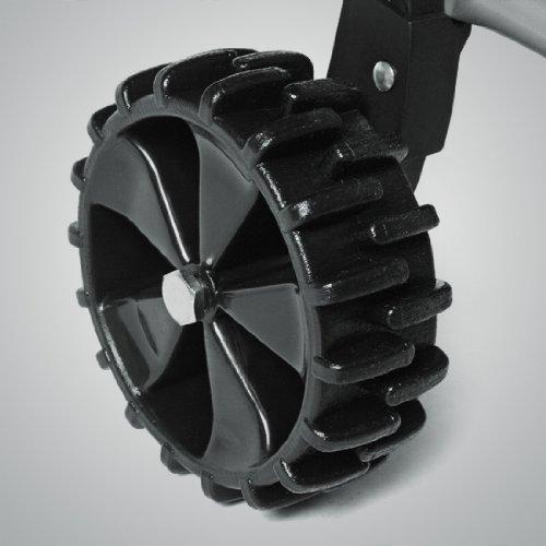 Schneeschieber Schneeräumer mit Rädern, höhenverstellbar, schwenkbar, Schneeschaufel zerteilbar - 4