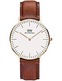 Daniel Wellington Damen-Armbanduhr Classic St.Mawes Analog Quarz Leder Rose Gold DW00100035