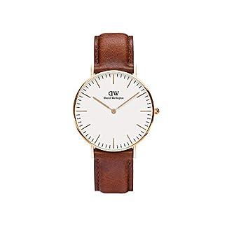 Daniel Wellington – Reloj analógico para mujer de cuero, color marrón