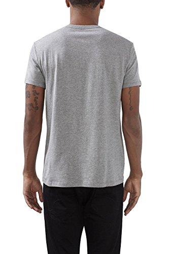 edc by ESPRIT Herren T-Shirt Grau (Medium Grey 035)