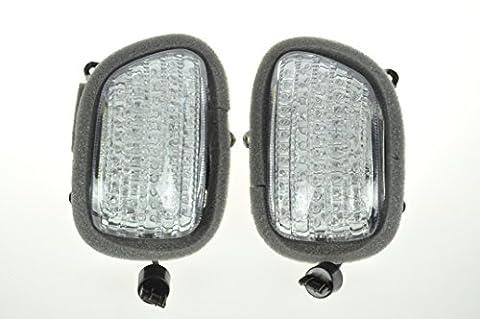 Topzone Moto LED Front Blinker Turn Signals Clear Lens für Honda 2001-2010 GL1800 Goldwing