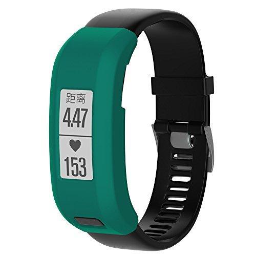 Preisvergleich Produktbild Garmin Vivosmart HR Armband, iHee 2017 NUE Premium Luxus Silikon Band Tasche für Garmin Vivosmart HR (Grün)