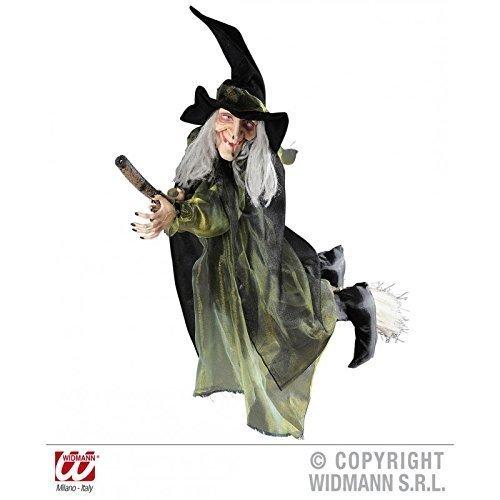Hexe auf fliegendem Besen ca. 100 cm / Raumdekoration / Fasching / Halloween / Hexendeko / Halloweendekoration