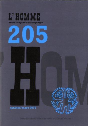 Revue L'Homme numéro 205 Varia - janvier/mars 2013