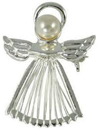Disfraz de ángel de la guarda plateado broche con caja de regalo