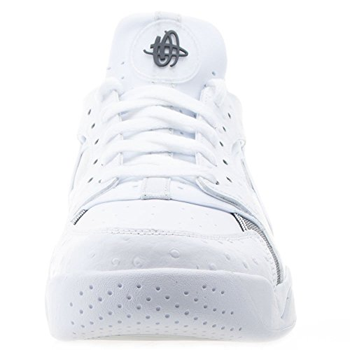 Air Flight Huarache Low-Basketball-Schuh White/Black