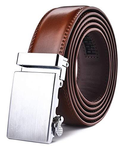 Xhtang Cinturón de cuero para hombres con hebilla automática 35mm Ancho
