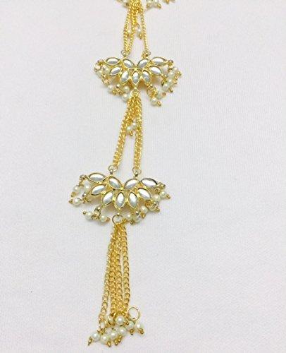 Kundan golden buttons Kurti front pati kaaz hanging buttons decorative designer