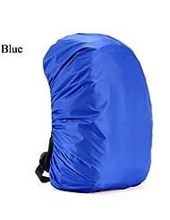 Resistente al agua mochila cubierta de la lluvia Camping senderismo mochila bolsa impermeable cubierta 35l-80l, azul