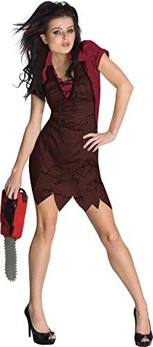 sexy Mörderin mit Kettensäge Kostüm für Damen Gr. XS-L, ()