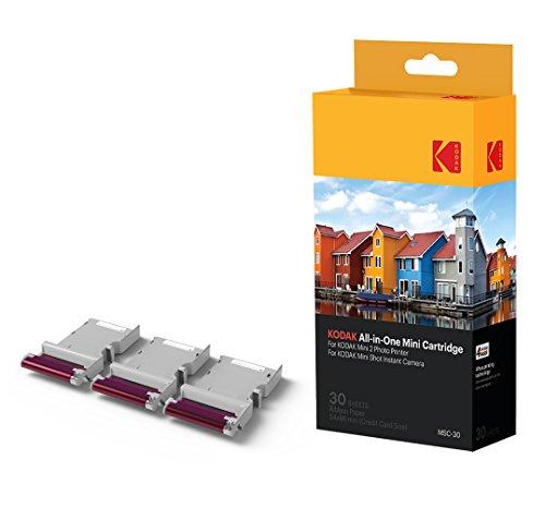 Kodak NEU Mini Fotodruckerpatrone MC – All-in-One Papier und Farbtintenpatrone Nachfüllung – 30er Pack - KOMPATIBEL mit Mini Shot Kamera, Mini 2 Drucker (All In One Kamera)