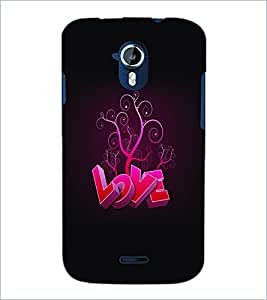 PRINTSWAG LOVE TYPHOGRAPHY Designer Back Cover Case for MICROMAX A117 CANVAS MAGNUS