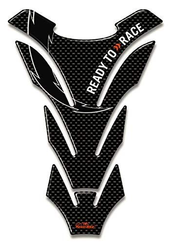 Paraserbatoio adesivo 3d universale compatibile con moto ktm - carbonio