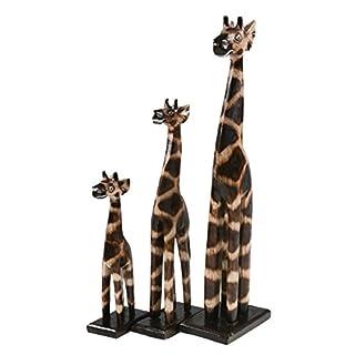 maDDma ® Giraffen-Familie aus Holz, Deko-Giraffe, Set 3 Stück, ca. 20, 30, 40 cm