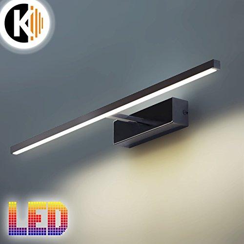 LED Leuchte Wandleuchte ANNA 12W - 414lm CHROM IP20 Warmweiss 4000K Bilderleuchte Innenlampe Wandlampe Spiegelleuchte Gartenleuchte Flurleuchte 230V
