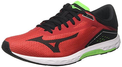 Mizuno Wave Sonic, Zapatillas de Running para Hombre, Multicolor (Formulaone/Black/Greenslime 13), 46 EU