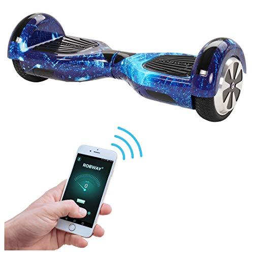 Robway W1 Hoverboard - UL2272 Akku - Self Balance - 9 Farben - Bluetooth - 2 x 350 Watt Motoren - App - 6,5 Zoll Reifen (Space Blue)