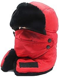 MAFYU Sombrero del trampero de Gril, Invierno cálido algodón Bombardero Hat con máscara, esquí