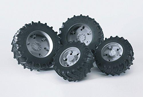 bruder 03305 Zubehör: Zwillingsbereifung mit grauen Felgen für Traktor Serie 03000 -
