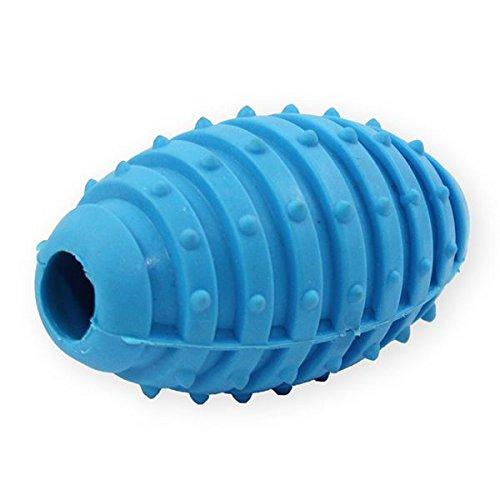 Pet Nova TPR Rugby Ball mit Glöckchen für Hunde - blau, 10cm
