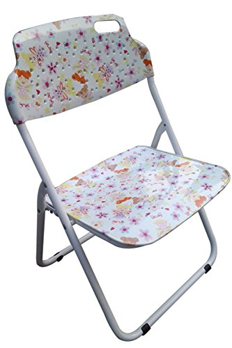 """Amaze"" Folding Baby kids children printed portable outdoor study dining furniture play group Chair - P.P.Printed (Without Arm Rests)-Doll"