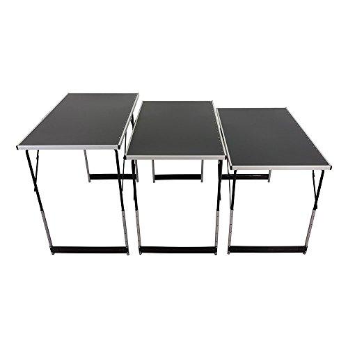 Multifunktionstisch Tapeziertisch Arbeitstisch 3-teilig 4-fach Höhenverstellbar