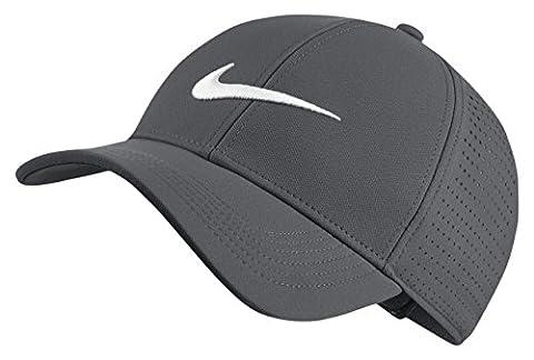 Nike 856831-021 Casquette Mixte Adulte, Gris Foncé/Anthracite/Blanc, FR : Taille Unique (Taille Fabricant : Taille Unique)