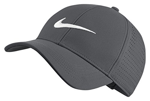 Nike Herren Aerobill Legacy 91 Perforated Kappe, Dark Grey/Anthracite/White, One Size (Hut Ausgestattet Cap Passform Eine)