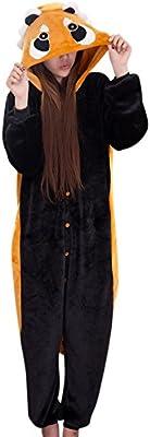 Moollyfox Unisexo Kigurumi Pijama Adulto Disfraz de halloween para cosplay Homewear Soportar XL