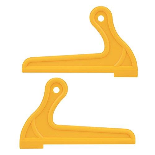 2 stücke Gelb Push Sticks, tragbare V-typ Holzsäge Push Sticks für Zimmer Tisch Arbeits Klinge Router Schützen Holzarbeiter