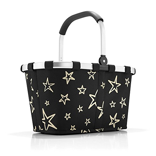 Reisenthel Carrybag Stars, Polyester, Schwarz, 48 x 28 cm