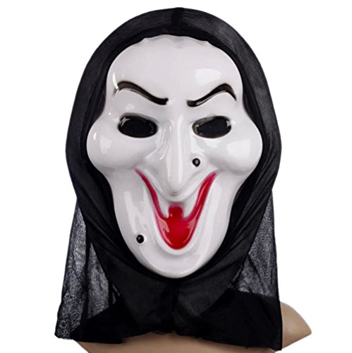 alloween Schrei Scary Ghost Face Maske (H) (Best Adult Halloween-kostüme Für Männer)
