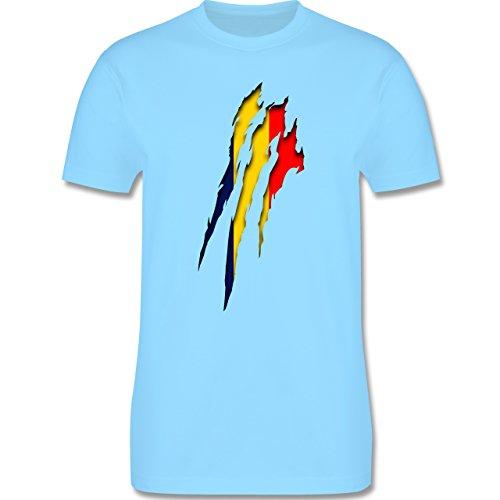 EM 2016 - Frankreich - Rumänien Krallenspuren - Herren Premium T-Shirt Hellblau