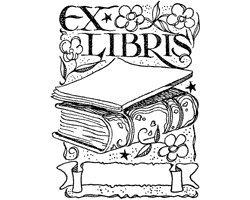 Motivstempel * Bilderstempel * Stempel EIN Motiv/Bild EX LIBRIS mit Buch - Namen Dem Gummi-stempel Mit