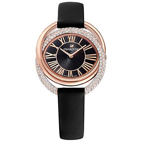 Swarovski Damen Analog Quarz Uhr mit Leder Armband 5484373