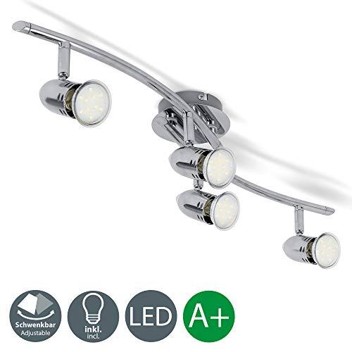 Lámpara techo focos giratorios incl. 4 bombillas