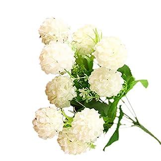 Cdrox 7 Ramas de Flores Artificiales del crisantemo Bola de Las Flores del Ramo Presenta Oficina hogar de la Boda