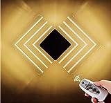 Wall Lampe Led Acryl Fernbedienung Dimmzeitlampe Schlafzimmer Nachtkorridor Hotel Wohnzimmerbeleuchtung 110-220 (V) 30 * 20 * 5Cm Pro