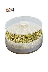 ROTEK Multipurpose Plastic Hygienic Single Compartment Sprout Maker (White)