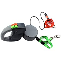 Rokoo 3m 50Lbs automatische Per Retractable Dual Double Pet Leine Seil Zero Tangle Walk Pro für zwei Hund
