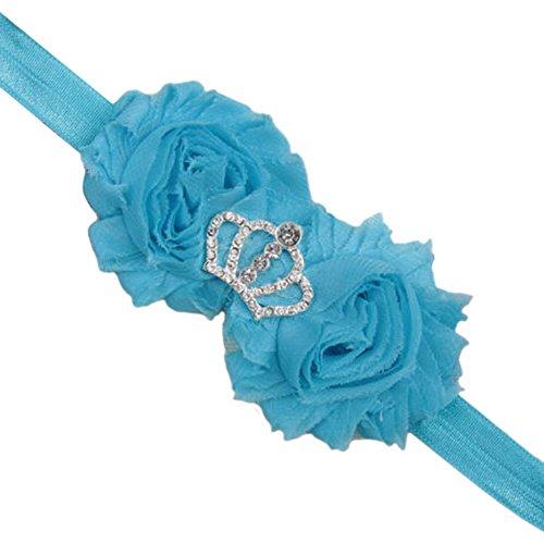 Bluelans Infant bébé fille enfants Lovely Cheveux Bow Band Floral Bandeau élastique Coiffe