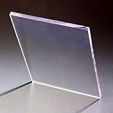BIGMALL Clear/Transparent Cast Acrylic Sheet 12 inch x 12 inch High Premium 3MM Thickness Imported Material