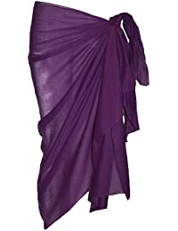 Plain Purple Cotton Sarong