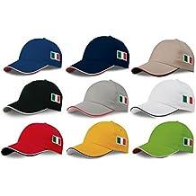 STOCK 10 PEZZI cappello CAPPELLO VISIERA RIGIDA ricamo tricolore BANDIERA ITALIA  ITALIANA 43ffdd07ba0b