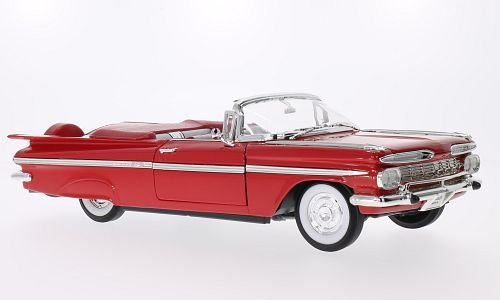 Chevrolet Impala, rot, 1959, Modellauto, Fertigmodell, Lucky Die Cast 1:18