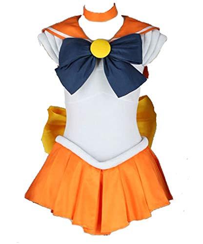 Chong Seng CHIUS Cosplay Costume Fighting Uniform for Sailor Venus Aino Minako Version 1 (Super Sailor Venus Kostüm)