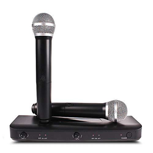 LJ2 Professionelles kabelloses Mikrofon, Handmixer-Audio-Kits, Mikrofonempfänger, kabellose Mikrofone für KTV Karaoke-Computer