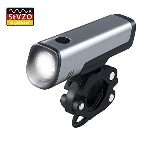 Mochatopia Fahrradlicht LED StVZO Zugelassen, USB Aufladbare Fahrrad Frontlicht Fahrradbeleuchtung Akku Wiederaufladbare IPX4 Wasserdicht