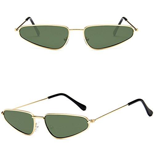 ECMQS Neue Mode Europäischen Stil Frauen Männer Kleine Legierung Rahmen Wassertropfenform Sonnenbrille, einzigartige Trend Schmale Cat eye Sonnenbrille