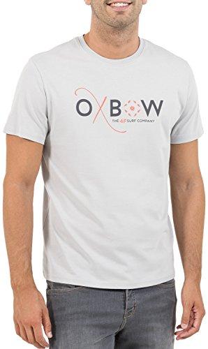 Oxbow k1tassaro tassaro tee shirt maniche corte uomo, uomo, k1tassaro, grigio perla, m